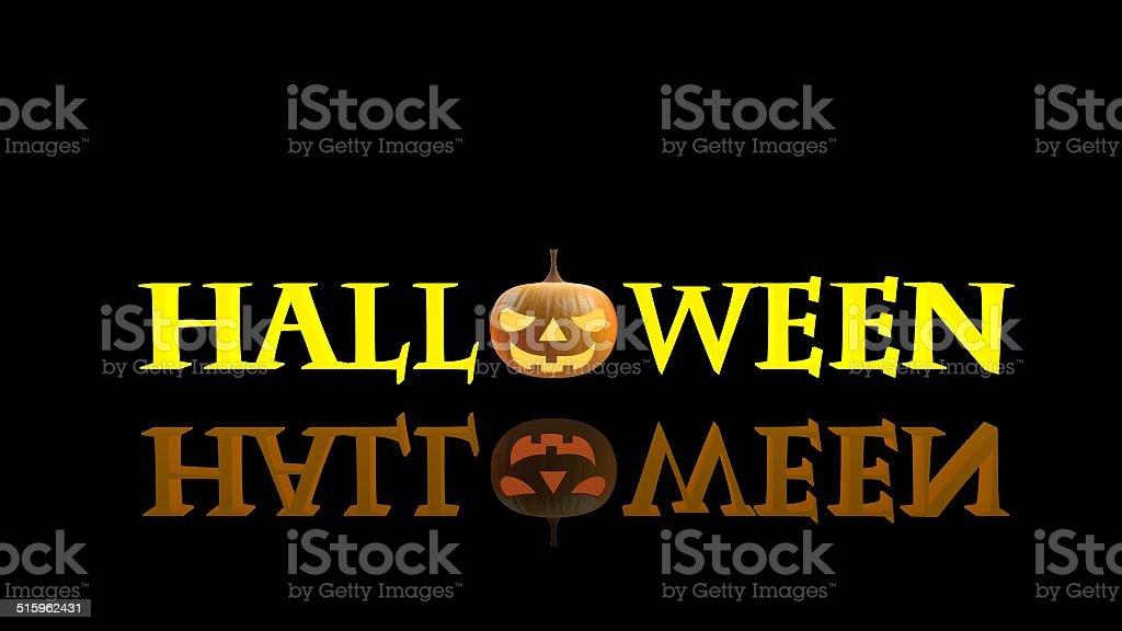 3D render of a halloween pumpkin stock photo