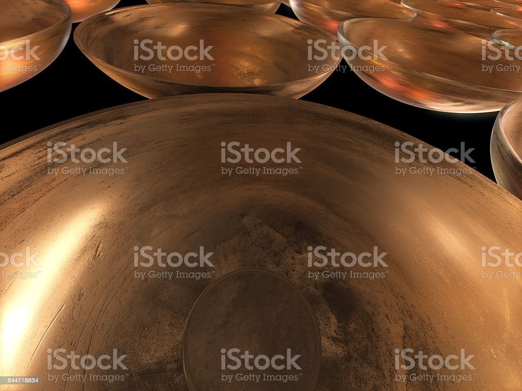 3D render of Abstract Gold Dots pattern background royalty-free stock photo