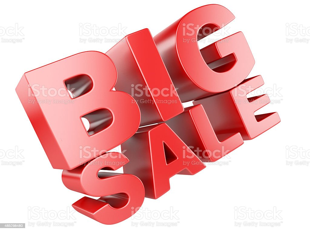 3D render of Big Sale Word stock photo