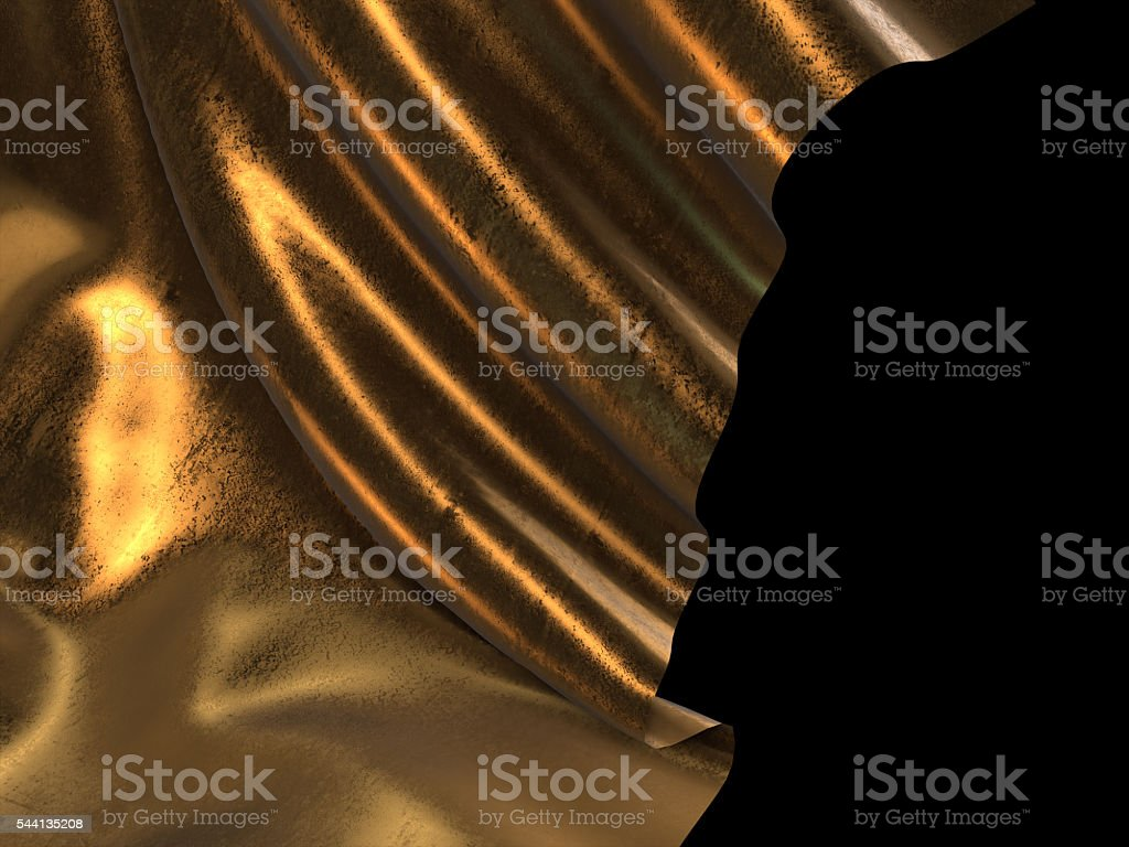 3D render of Gold cloth abstract background royalty-free stock photo