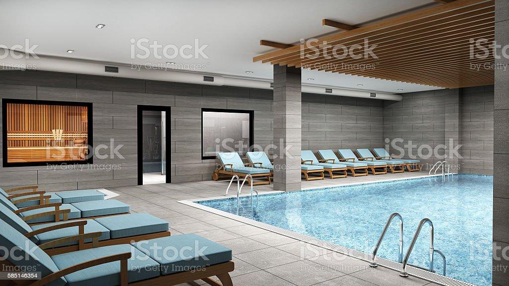 3D Render of house design stock photo