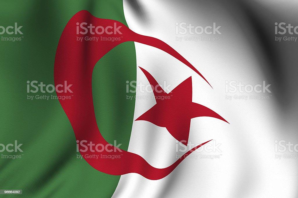 Rendered Algerian Flag stock photo