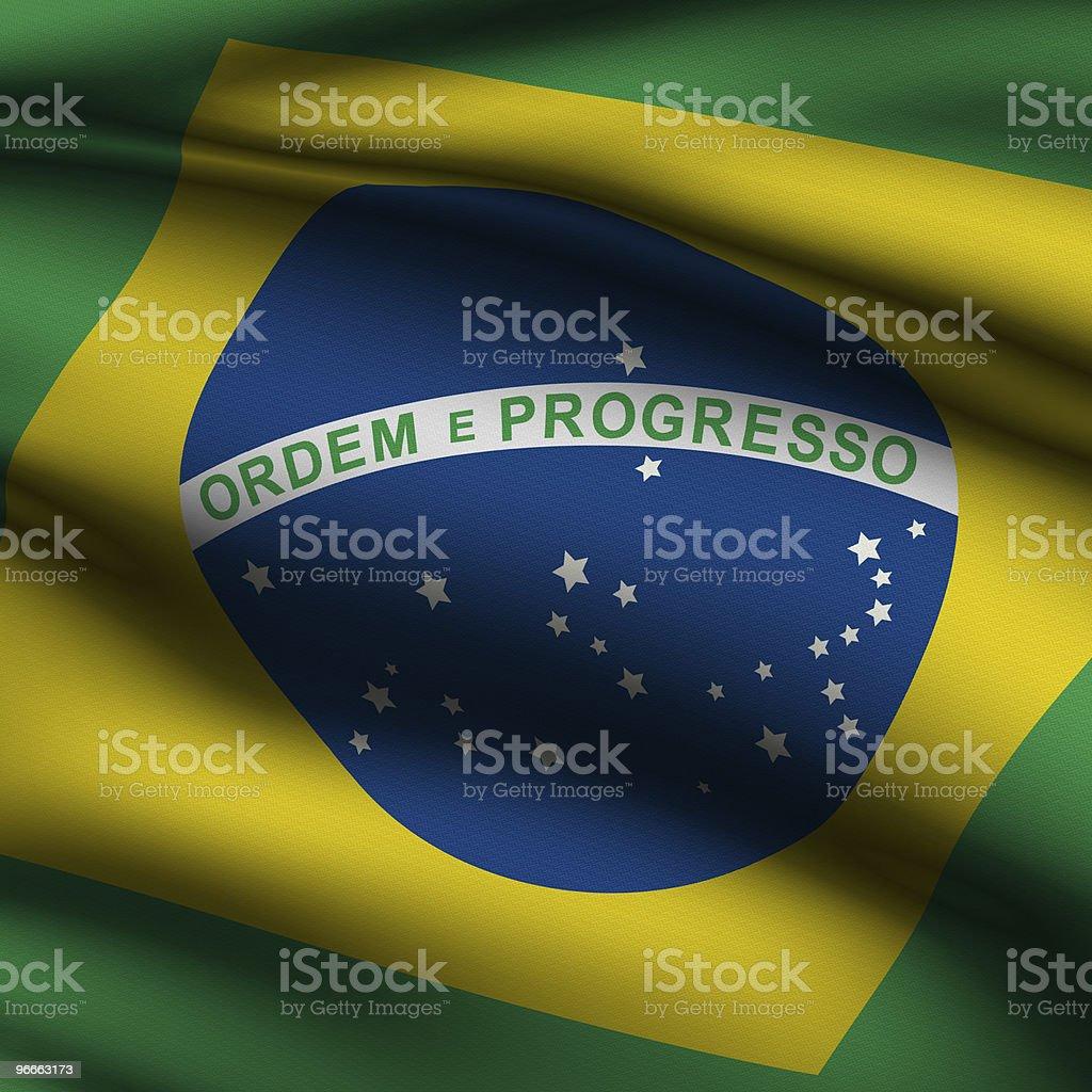 Rendered Brazilian Square Flag stock photo