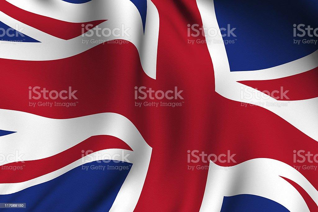 Rendered British Flag stock photo