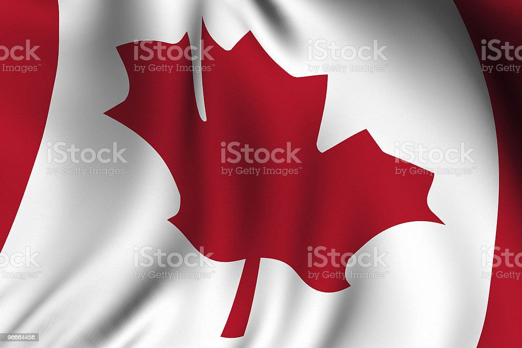 Rendered Canadian Flag royalty-free stock photo