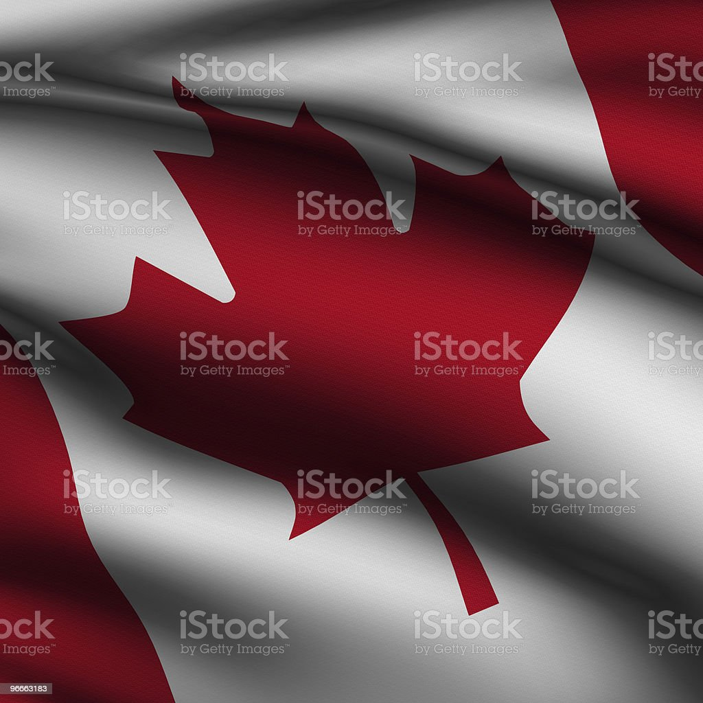 Rendered Canadian Square Flag royalty-free stock photo