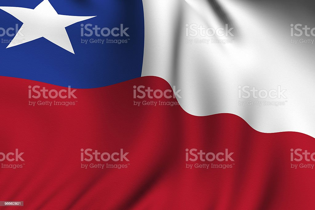 Rendered Chilean Flag stock photo