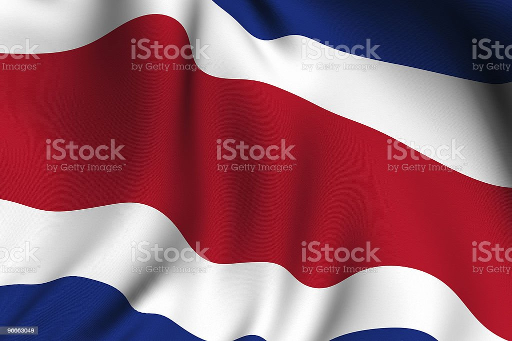 Rendered Costa Rican Flag stock photo