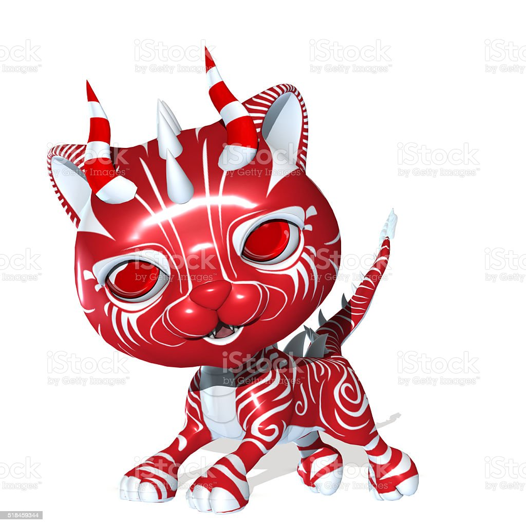 3D Rendered cute fantasy pet stock photo