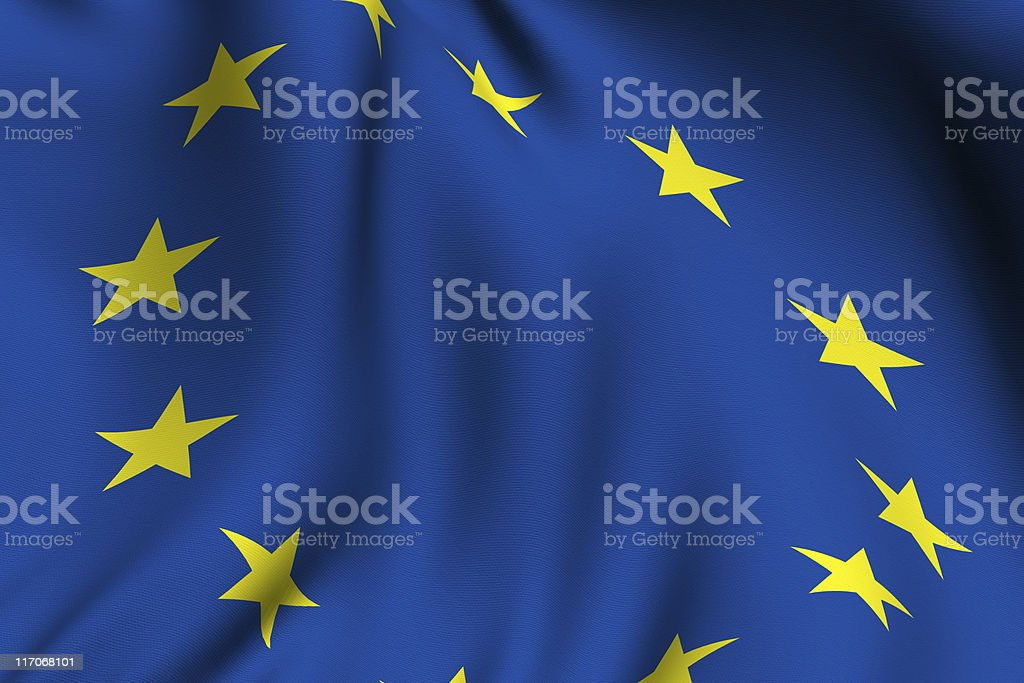 Rendered European Flag royalty-free stock photo