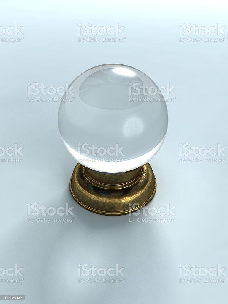 3D rendered graphic of a crystal ball royalty-free stock photo