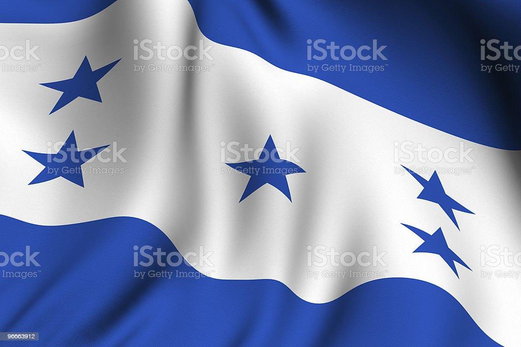 Rendered Honduran Flag stock photo