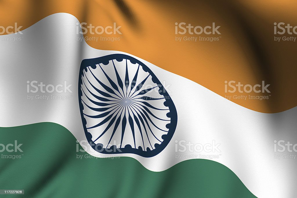 Rendered Indian Flag royalty-free stock photo