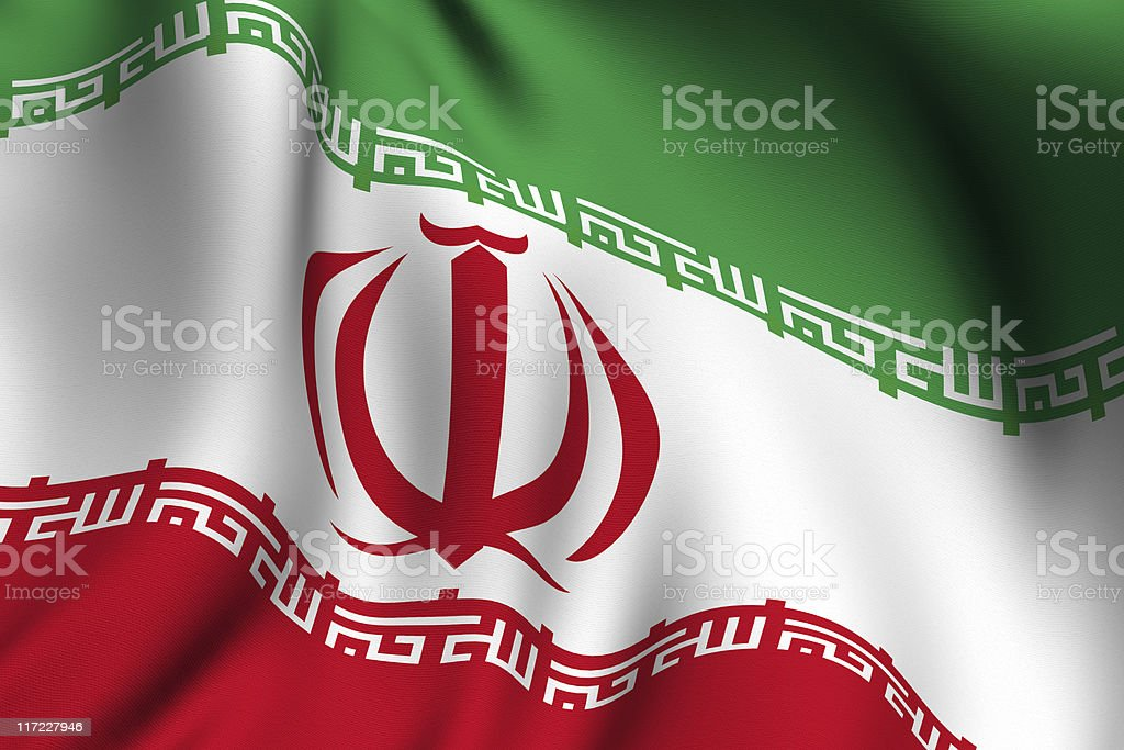 Rendered Iranian Flag stock photo