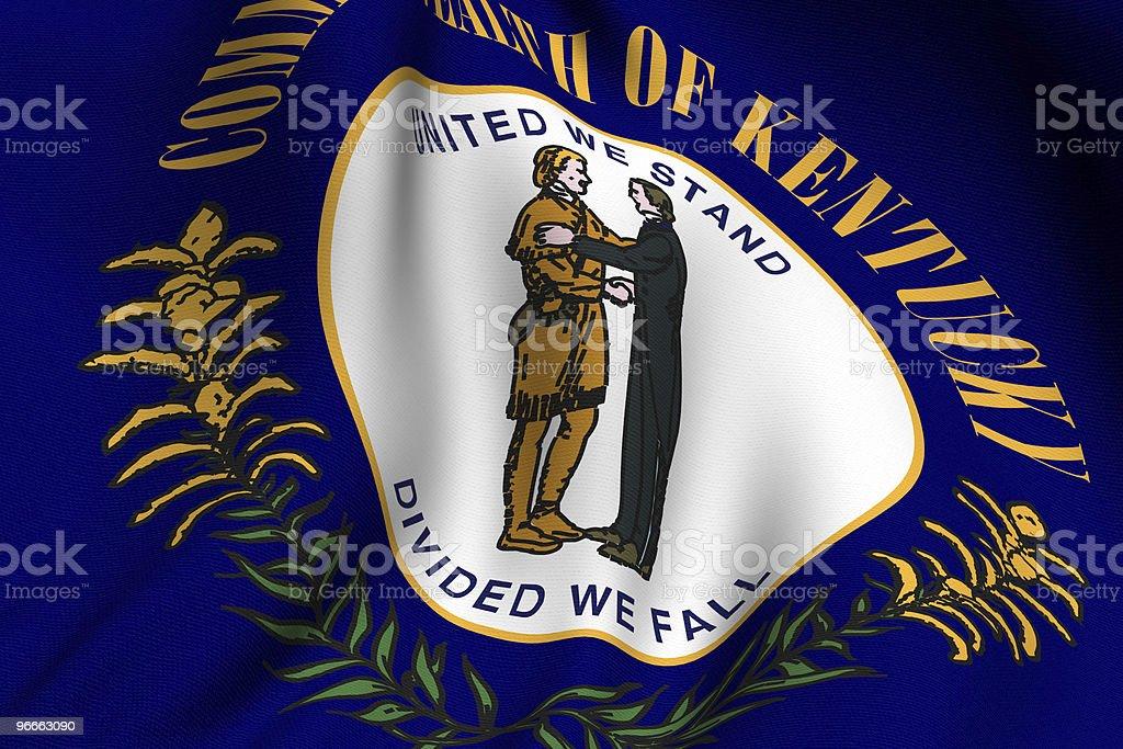 Rendered Kentucky Flag vector art illustration