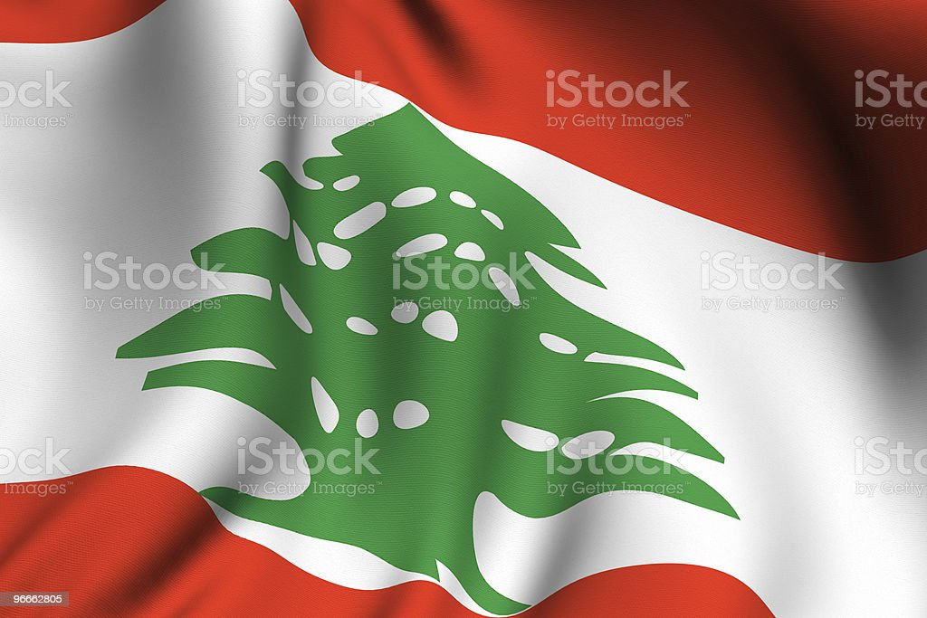 Rendered Lebanese Flag stock photo
