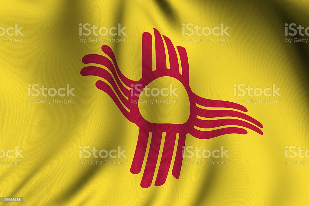 Rendered New Mexico Flag royalty-free stock photo