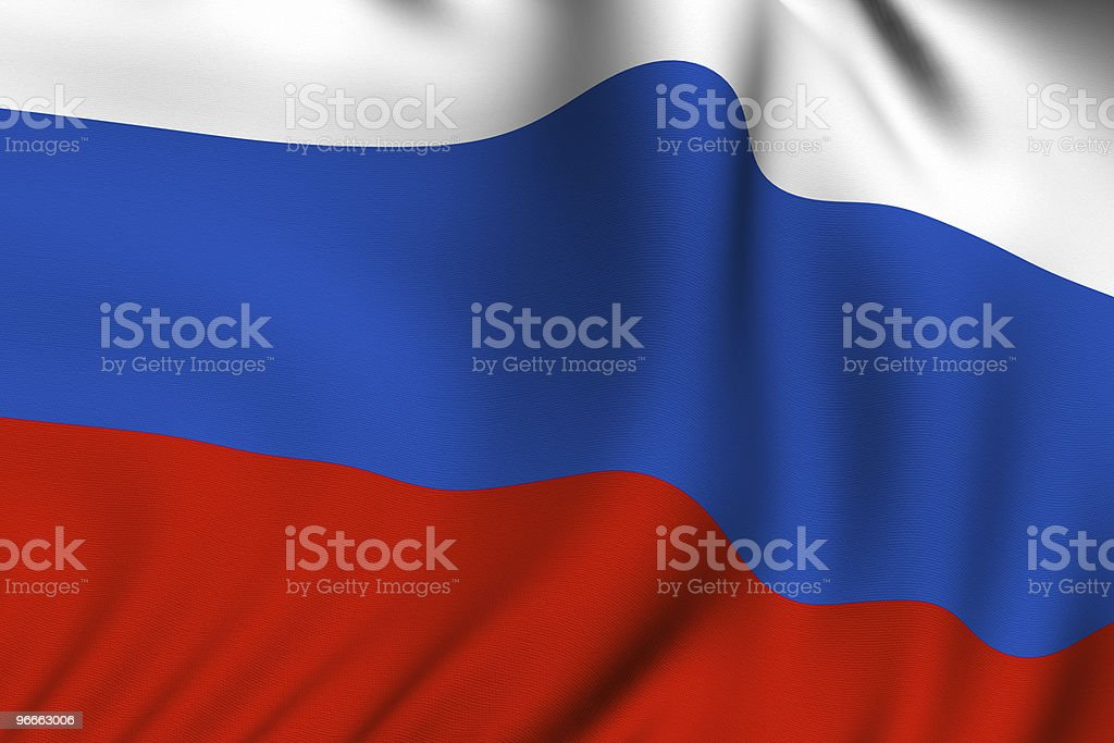 Rendered Russian Flag stock photo