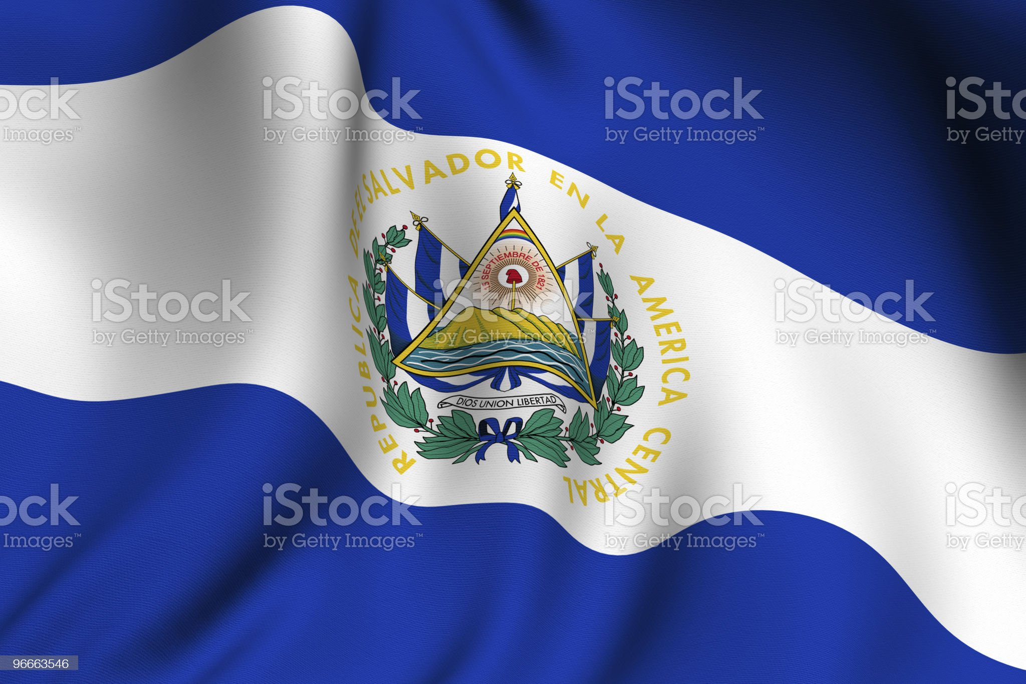 Rendered Salvadoran Flag royalty-free stock photo