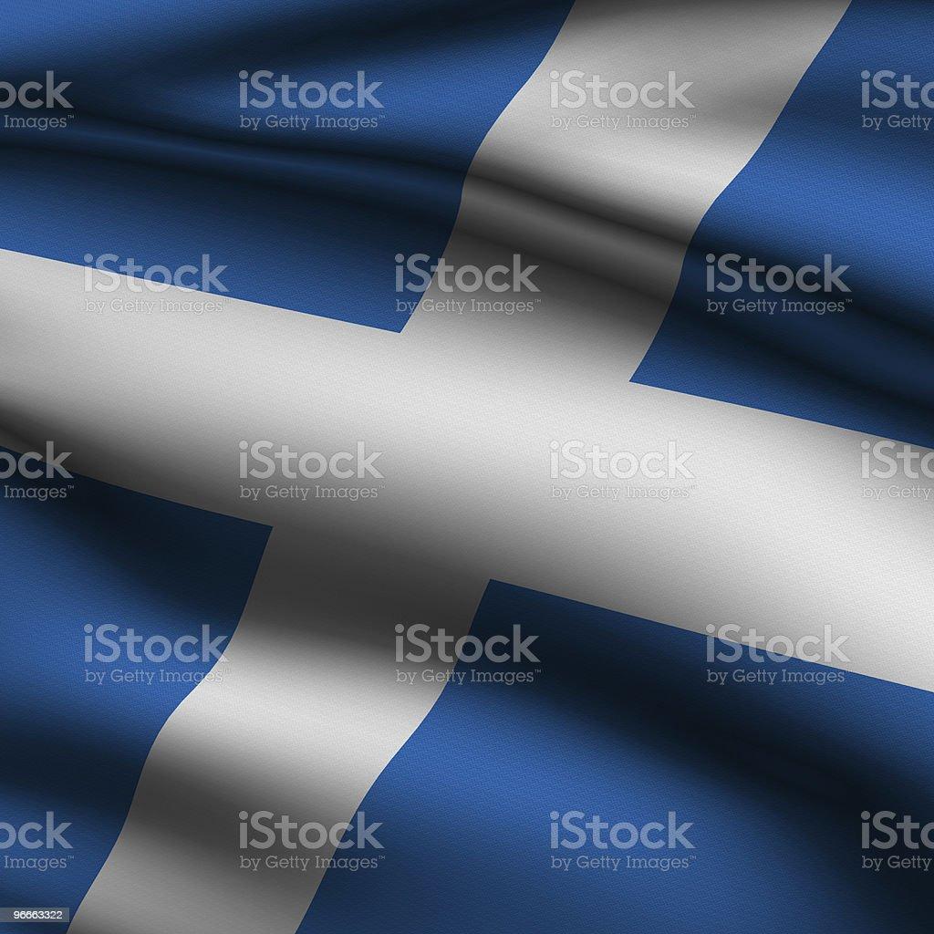 Rendered Scottish Square Flag royalty-free stock photo
