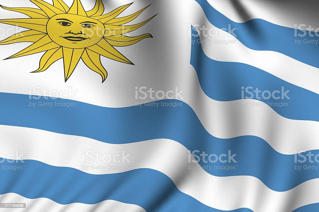 Rendered Uruguayan Flag royalty-free stock photo