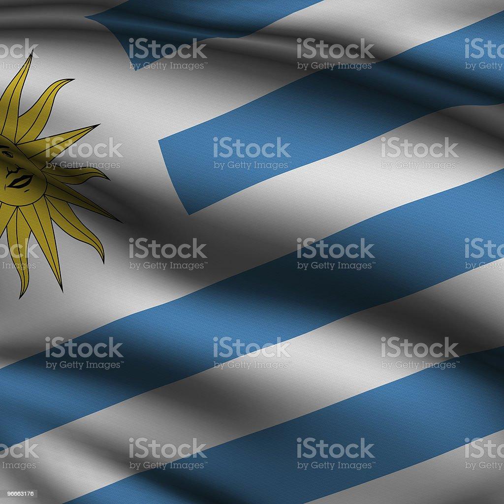 Rendered Uruguayan Square Flag stock photo