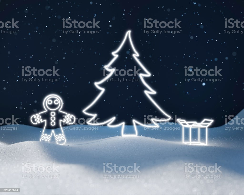 3D rendering 2017 winter royalty-free stock photo