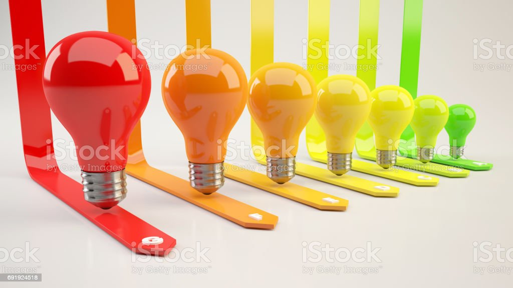 3D rendering Energy efficiency concept illustration stock photo