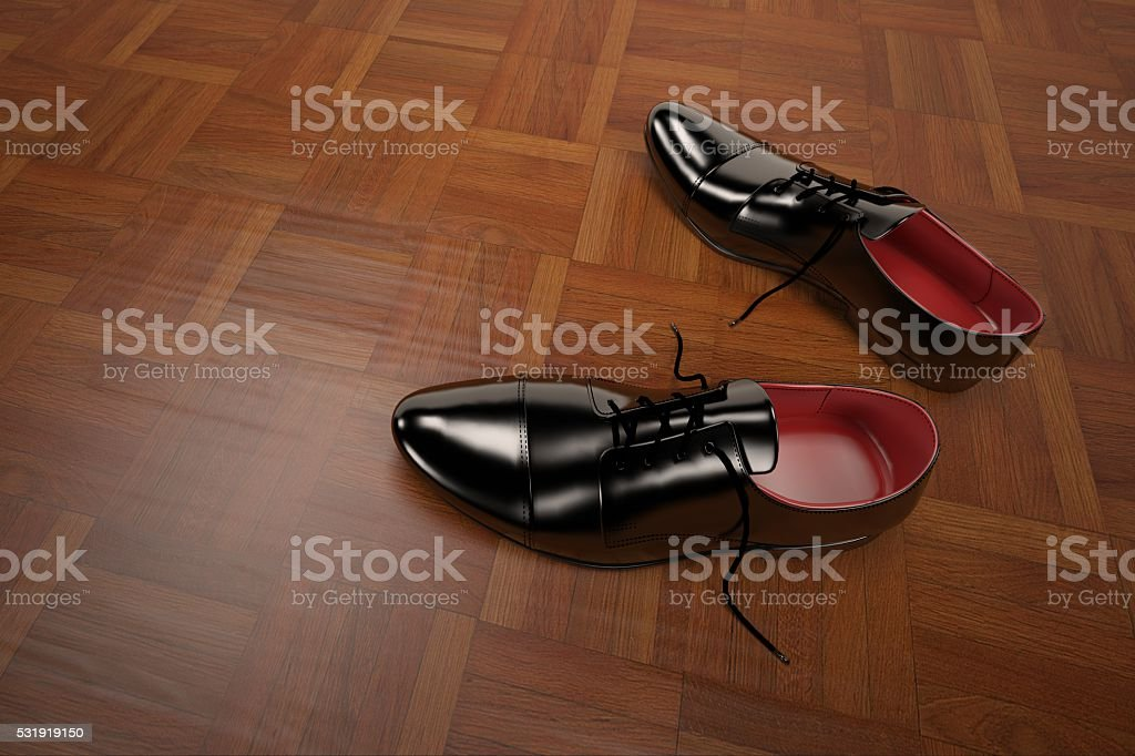 3D rendering formal shoes model stock photo