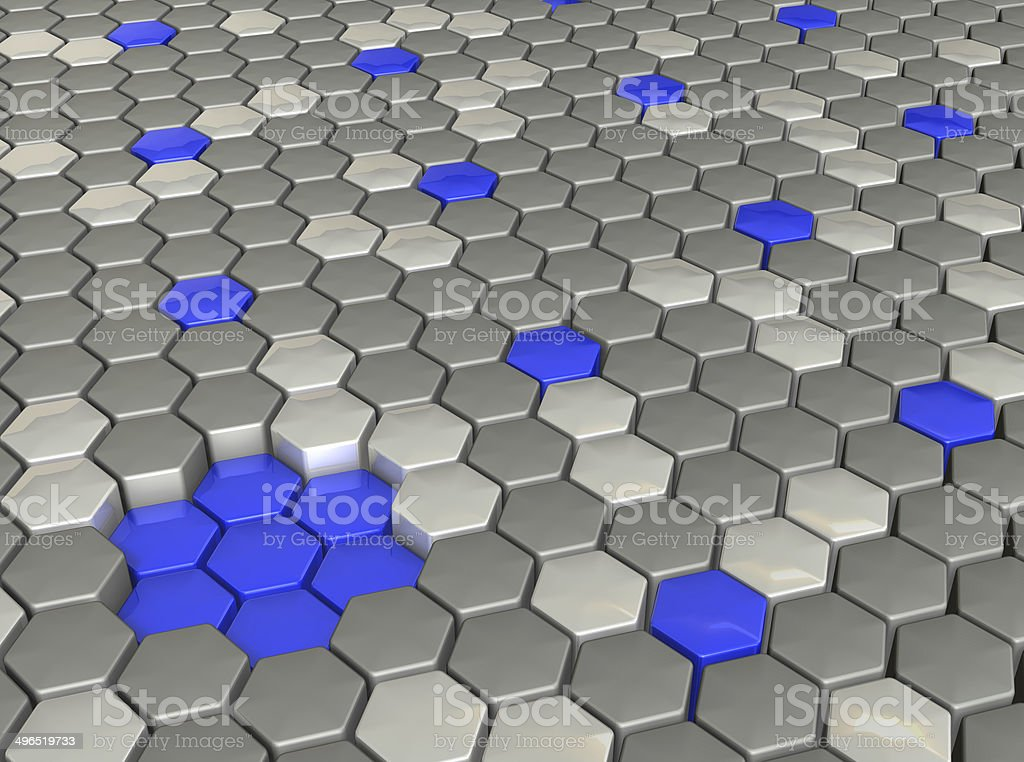 Rendering image looks like Crystals of hexagonal column royalty-free stock photo