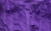 3D rendering low polygon background purple illustration