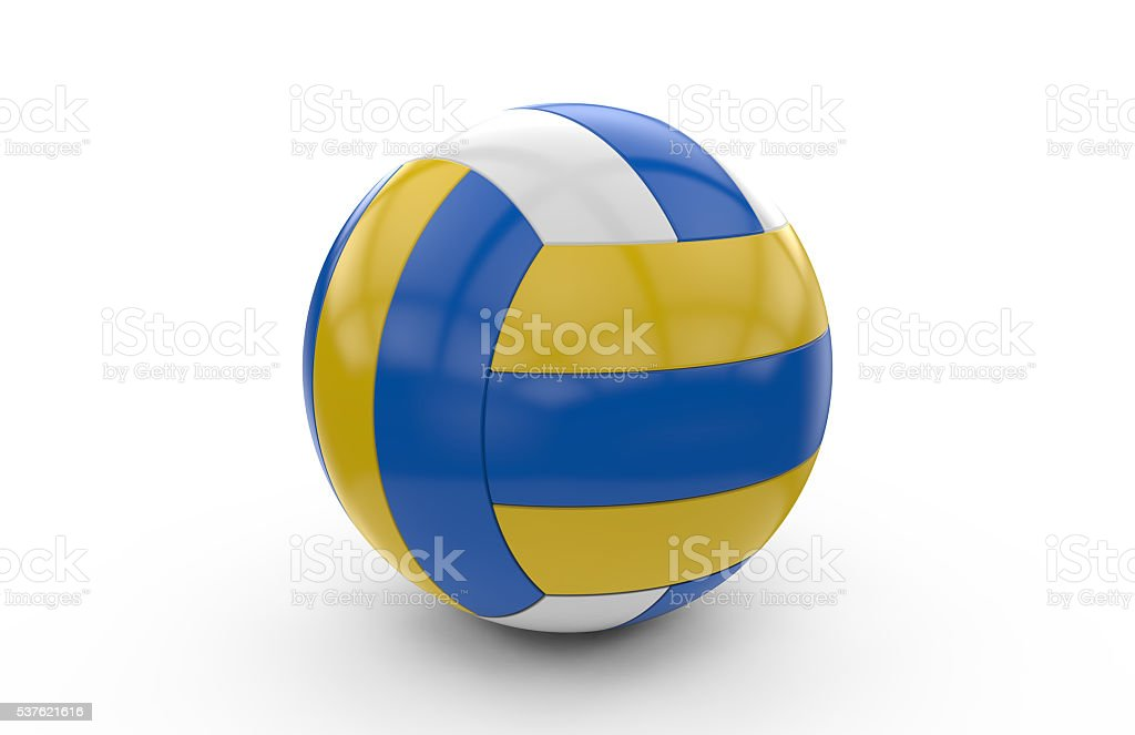 3D rendering of a volley ball stock photo