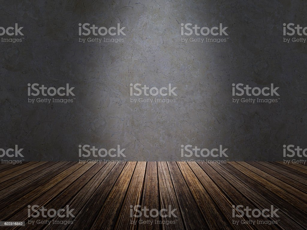 3D rendering of blank Wall Background stock photo