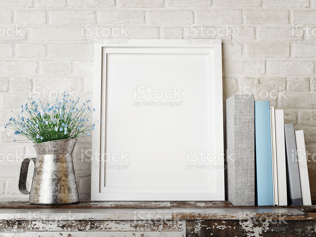 3D rendering of frame, hipster concept stock photo