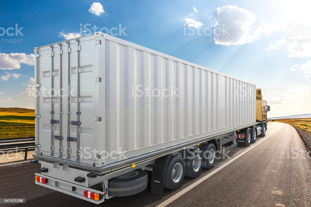 3D rendering of generic transportation concept stock photo