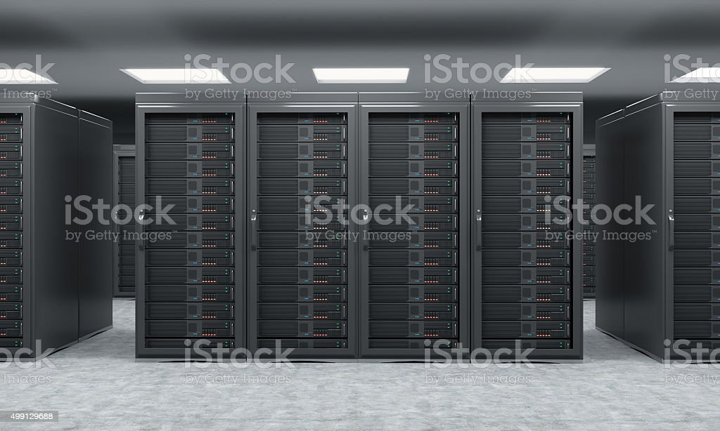3D rendering of server for data storage stock photo