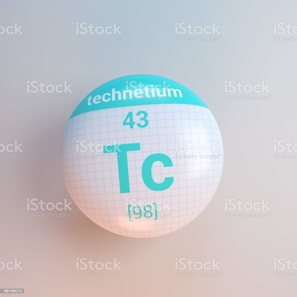 3D rendering periodic table icon stock photo