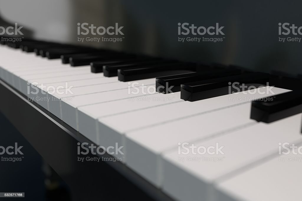 3D rendering piano keyboard stock photo