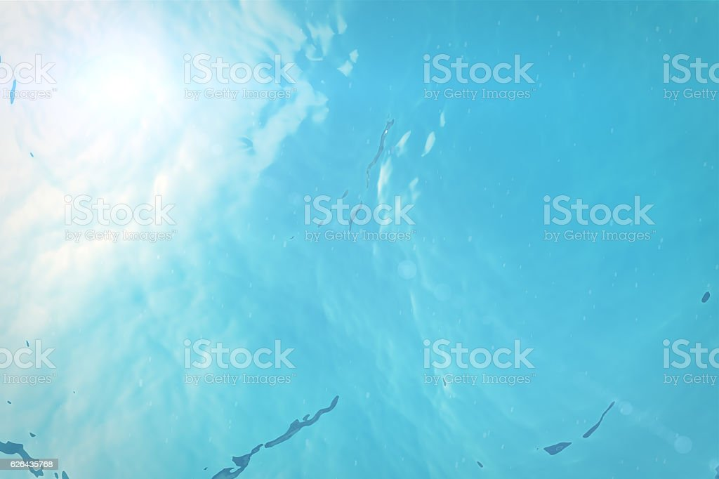 rendering surface underwater blue background in sea stock photo
