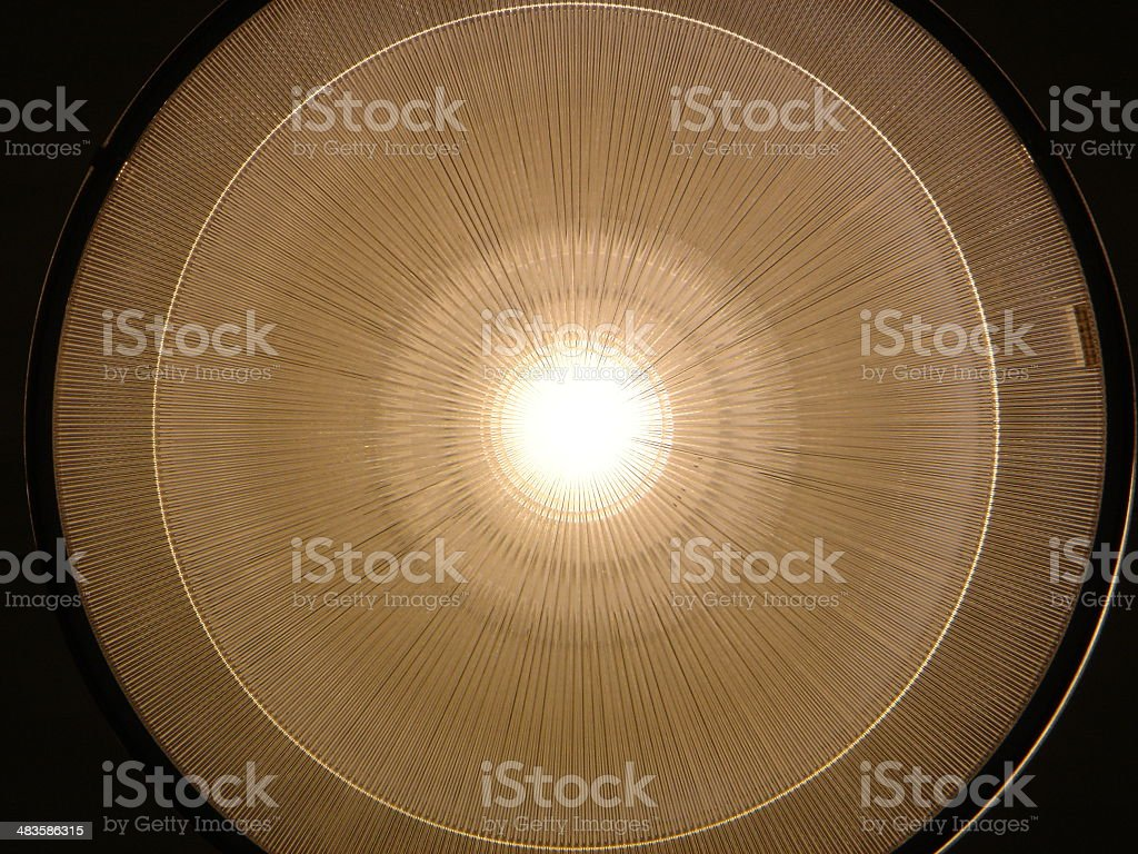 2D Rendition of an Overhead Lamp royalty-free stock photo