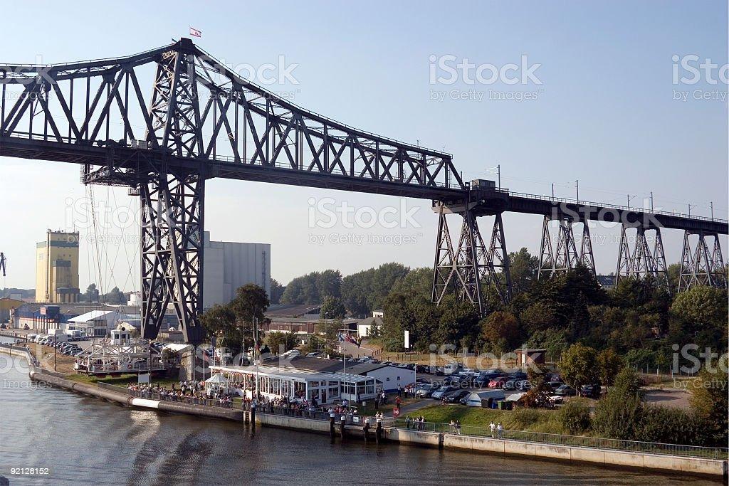 Rendsburg Bridge, Kiel Canal, Germany royalty-free stock photo