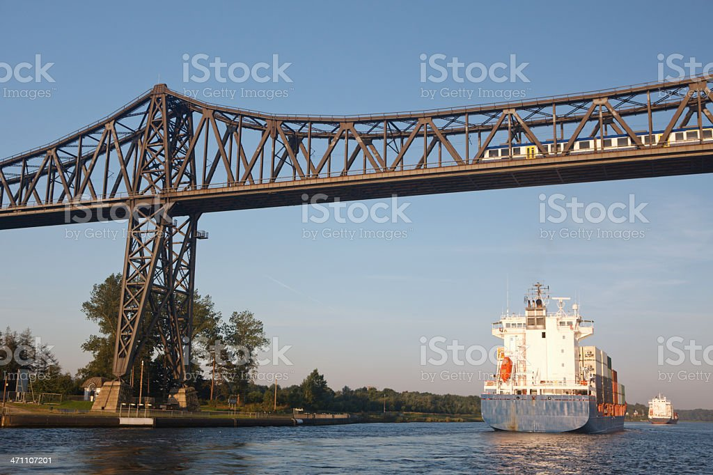 Rendsburg Bridge stock photo