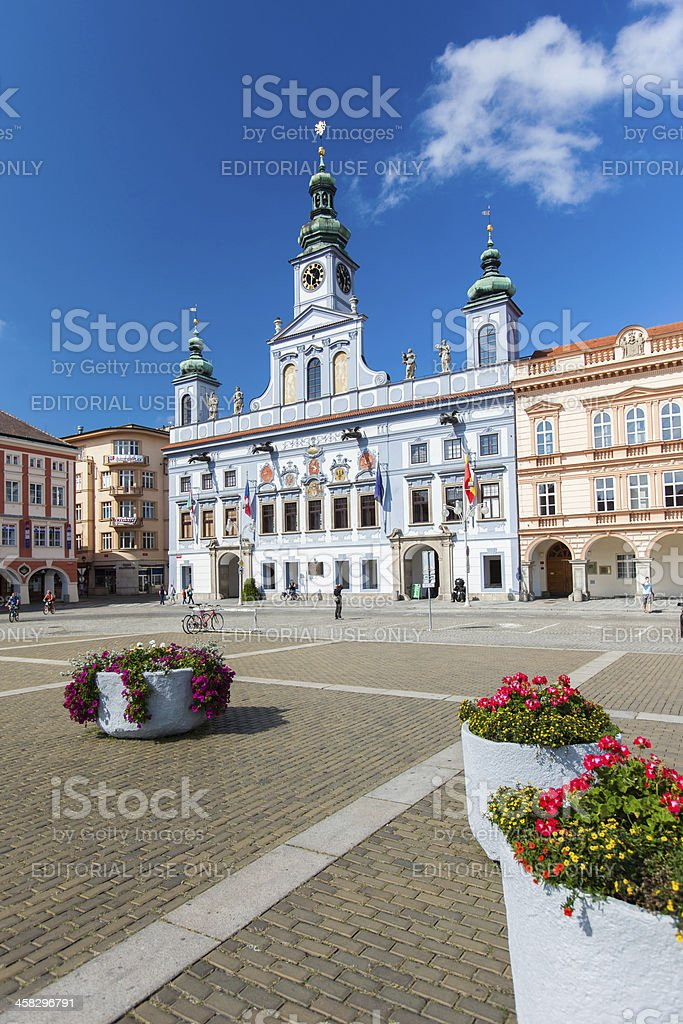 Renesance Town Hall in Ceske Budejovice, Czech Republic. royalty-free stock photo
