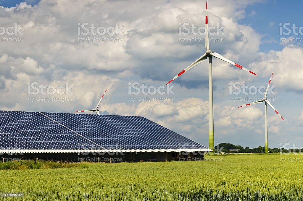 Renewable and alternative Energies stock photo