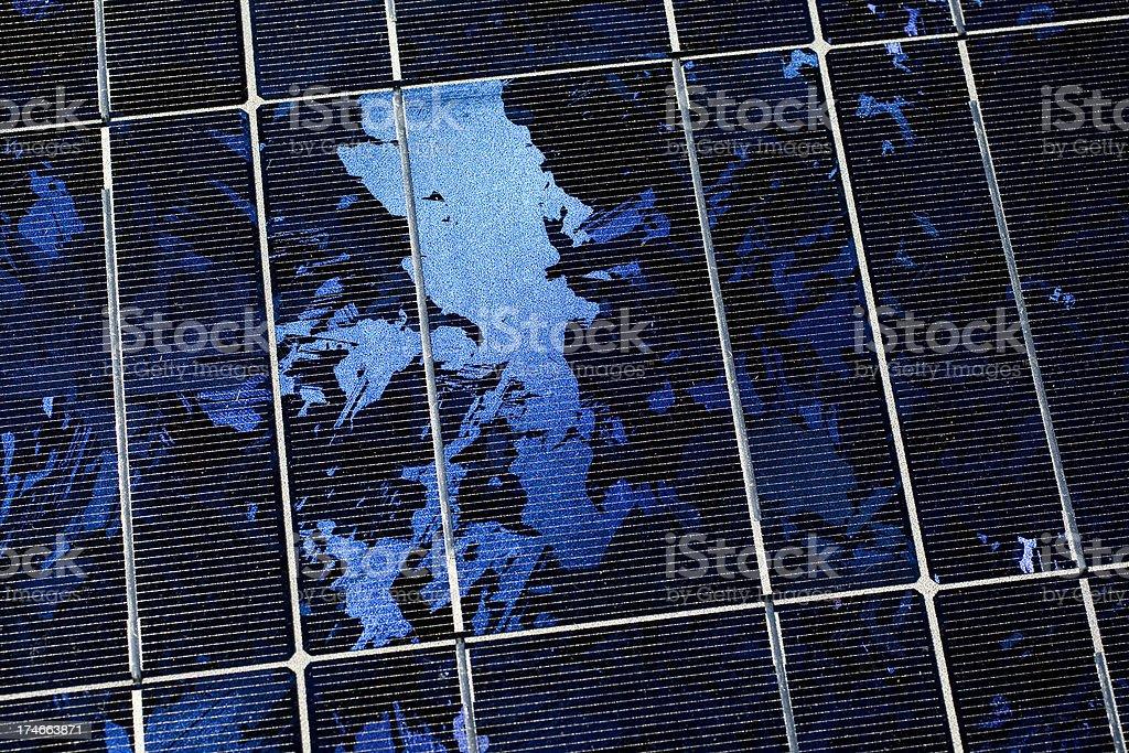 Renewable energy solar panel surface royalty-free stock photo