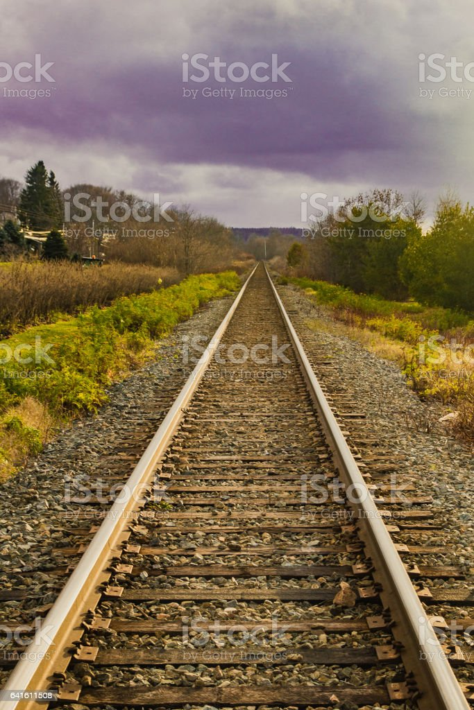 Renforth Railroad Track - Perspective stock photo