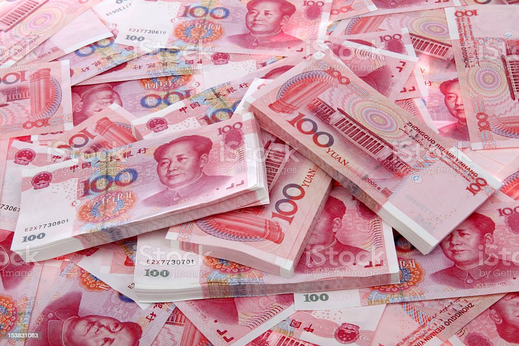Renminbi background royalty-free stock photo