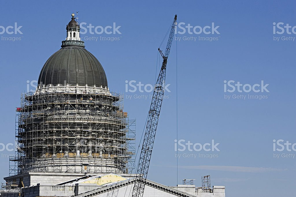 Rennovating Government w/copyspace royalty-free stock photo