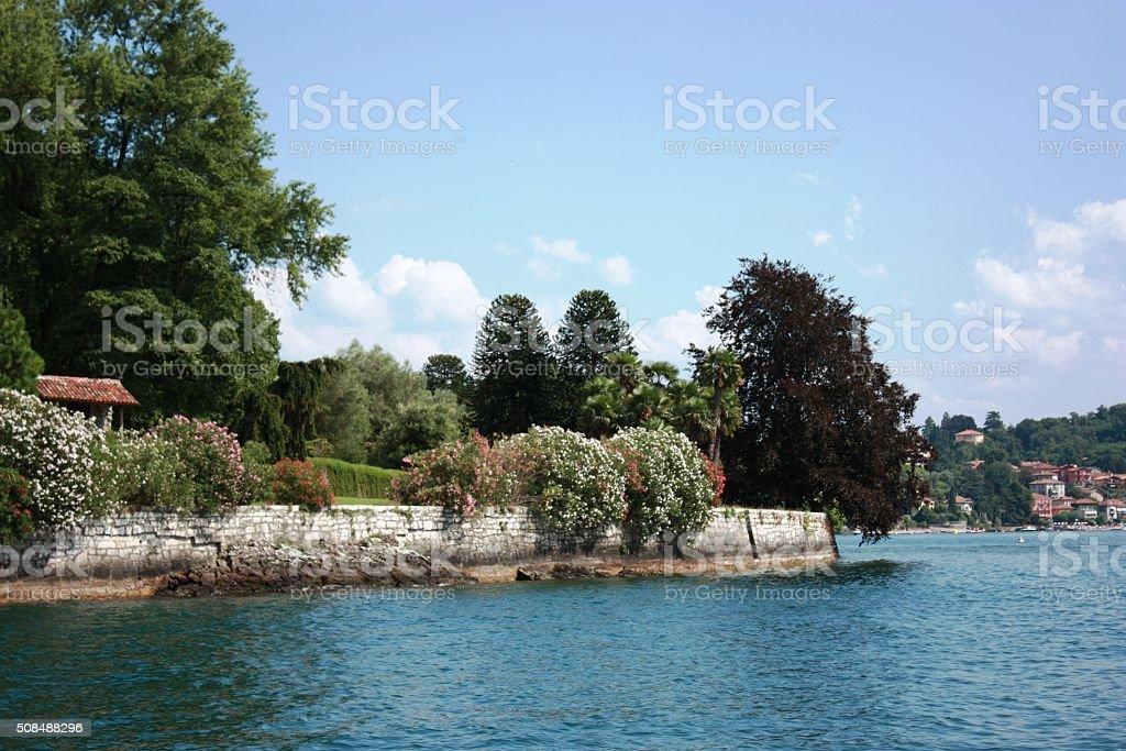 Reno Leggiuno at Lake Maggiore, Lombardy Italy stock photo