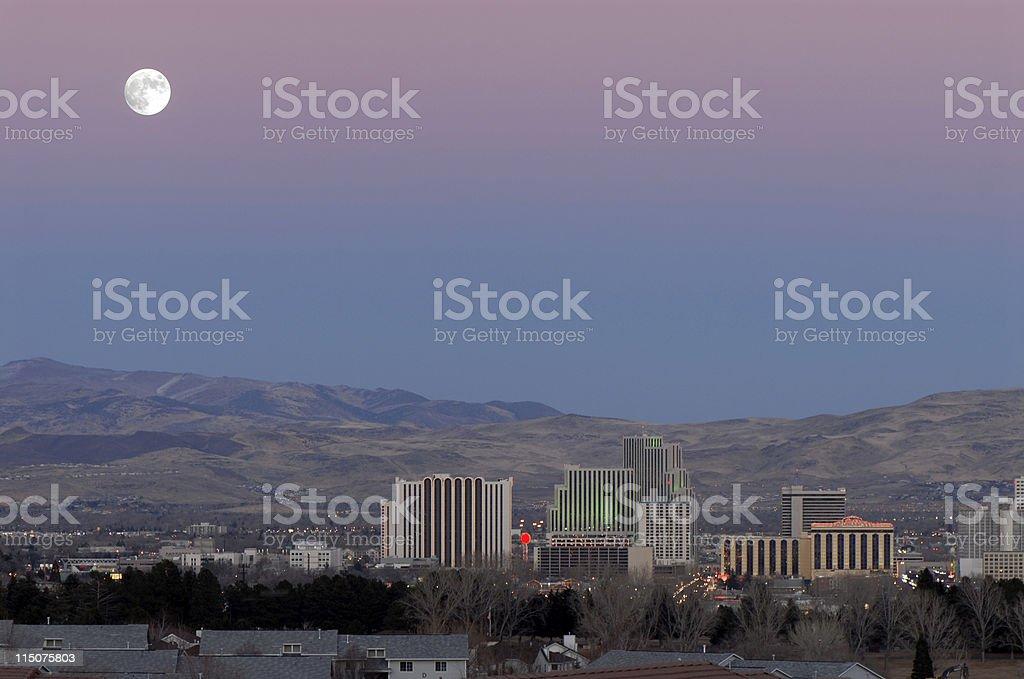 Reno Moon stock photo